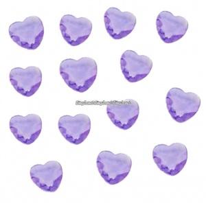 Lila bordsdiamanter - hjärtan - 21 g