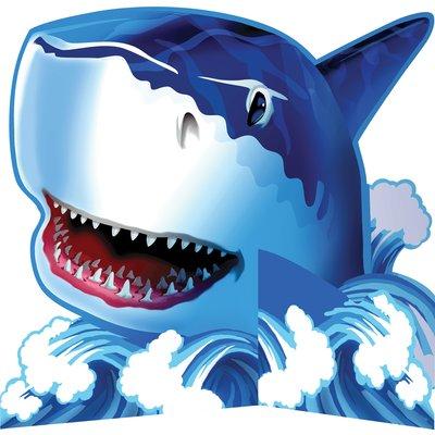 Bordsdekoration Blå haj - 23 cm
