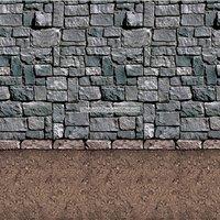 Bakgrund smutsigt golv och stenvägg - 9.1 m