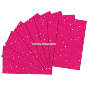 Presentpapper mörkrosa med paljetter - 8 ark